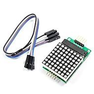 MAX7219 матрица модуль Красная точка с 5-Dupont линий для (для Arduino) (работает с официальными (для Arduino) плат)