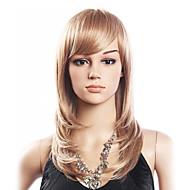 Alta Qualidade de 20% do cabelo humano e 80% resistente ao calor fibra capilar Capless Peruca Curly (Platinum Blonde)