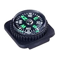 Outdoor Survival Mini Kompas med PU Læder Watch Attachment Design