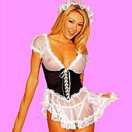 Hot Girl in bianco e nero lingerie cameriera francese Uniforme