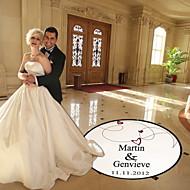 Hochzeit Dekor personalisiert Herz und Linie Tanzfläche Aufkleber (weitere Farben)