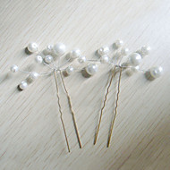 Women's Imitation Pearl Headpiece-Wedding Special Occasion Hair Pin 6 Pieces