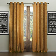 Modern Two Panels Solid  Living Room Khaki Curtains Drapes