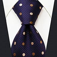 Negocios Lunares Azul Seda corbata de los hombres