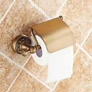 """Toilet Paper Holder Antique Brass Wall Mounted 140 x 134 x 66mm (5.51 x5.27 x 2.59"""") Brass Traditional"""