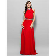 Prom / Military Ball / Formal Evening Dress - Ruby Plus Sizes / Petite A-line High Neck Floor-length Chiffon