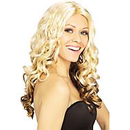 Fancy Ball Synteettinen Party Wig Pitkä Aaltoileva Peruukki (Golden Blonde)