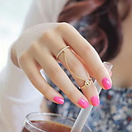 Shixin® European Two Rings With Chain Women'S Midi Rings(Silver,Gold)(1 Pc)