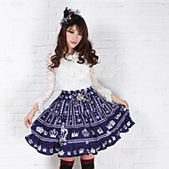 Blue Pretty Lolita Fairy Royal Crown Princess Kawaii Skirt Lovely Cosplay