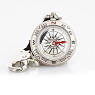 T49 Monitoiminen Öljyeristeiset Pirate Compass hihna / avaimenperä - Silver