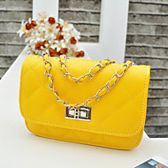 Women PU Casual / Event/Party Shoulder Bag Beige / Yellow / Orange / Black