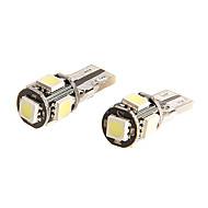T10 LUZ 5050 SIDE lâmpada LED SMD 5 para Mortorcycle 2pcs