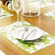 4 Pieces Plastique Sets de table