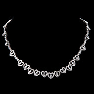 Women's Platinum Necklace Anniversary/Engagement/Gift/Daily/Special Occasion/Office & Career/Wedding/Birthday/Party/Causal/Outdoor Diamond