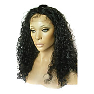 20 Inch Twist Culry Remy Hair Lace Front Wig schweiziske Lace i Front Tilbage Er Stretch Fås i flere farver