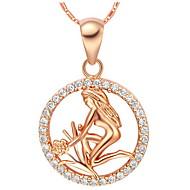 mode legering stjernetegn virgo kvinders halskæde med rhinsten (1 stk) (guld, sølv)