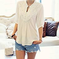 Women's V Neck Embroidery Blouse