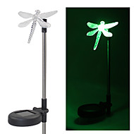Set of 2 Garden Color Changing Dragonfly Solar Stake Lights