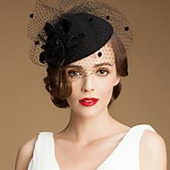 チュールの結婚式/パーティー/ハネムーン帽子付きゴージャスウール