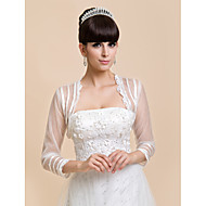 3/4 Sleeve Tulle & Lace Evening/Casual Wrap/Evening Jacket (More Colors) Bolero Shrug