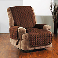 Waterproof Microsuede Solid Mini Cube Quilting Recliner Cover