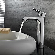 Contemporary Chrome One Hole Single Handle Bathroom Sink Faucet