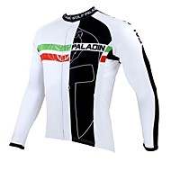 PaladinSport Men's Cycling Jersey Long Sleeve Spring and Summer and Autumn Style 100% Polyester