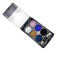 6 Paleta očních stínů mokrý Oční stíny paleta pudr Běžný Dumanlı Makyaj / Günlük Makyaj