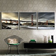 Landscape Framed Canvas / Framed Set Wall Art,PVC White No Mat With Frame Wall Art