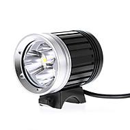 ヘッドランプ 自転車用ライト 自転車用ヘッドライト LED Cree XM-L T6 サイクリング 防水 18650 2400 ルーメン バッテリー AC充電器 キャンプ/ハイキング/ケイビング サイクリング 多機能