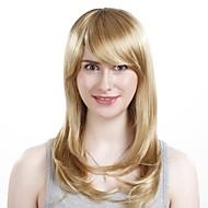 Capless lenge høykvalitets syntetisk bølgete blonde hår parykk