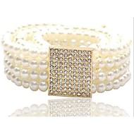 burlone di modo cintura in diamanti perla delle donne