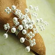 Pearl Flower ubrousek Ring v mnoha barvách, sklo, Dia4.5CM, Sada 12
