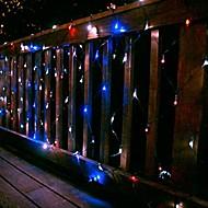 100 светодиодных Чистый Свет 2м х 1,5 м Солнечный Свет Рождества Праздничный Обед лампы