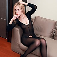 Women's Siamese Sleeved Open Crotch Sexy Lingerie