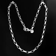 Collar de plata de las mujeres del diseño de marca de moda de latón plateado