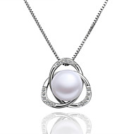 Xu Women's Pearl / Gold-Plated Diamonds Anniversary / Wedding / Engagement / Birthday / Gift / Party Necklace