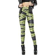 pinkqueen® kvinners spandex grønn brev trykte leggings