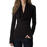 t-shirt a manica lunga cappuccio delle donne