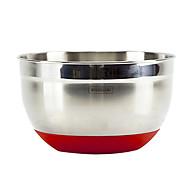 Skid-Proof Stainless Steel Salad Bowl, L21cm x W21cm x H12cm