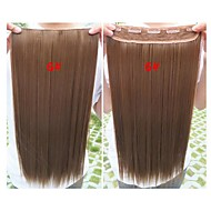 Klip i Hair Extension Clips Brown Beauty Hot Selling Engros Girl Straight Farverig