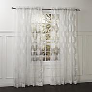 country dwa panele kwiatowy botaniczne biały sypialni zasłony poliester strome odcienie