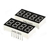 DIY 0,36 4-значный цифровой 7-сегментный дисплей - черный (2 шт.)