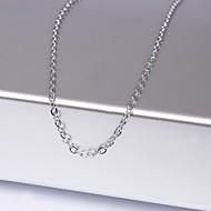Eruner®Unisex 1MM Ring ChainSilver Chain Necklace NO.11