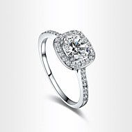 Women's Exquisite AAA Zircon Silver Plated Wedding Ring