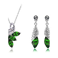 Jewelry Set Women's Engagement / Party Jewelry Sets Alloy / Quartz Necklaces / Earrings White