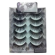 6 pairscoolflower false eyelashes 023#
