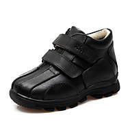 Boy's Oxfords Spring / Fall / Winter Comfort / Snow Boots Leather Wedding / Dress / Casual / Party & Evening Flat Heel Magic Tape Black