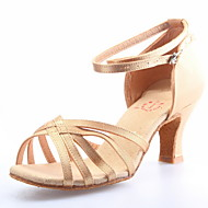 Obermaterial Satin Tanzschuhe Ballsaal Latein Schuhe für Frauen
