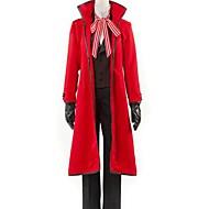 Inspiriert von Black Butler Grell Sutcliff Anime Cosplay Kostüme Cosplay Kostüme einfarbig Rot Lange ÄrmelMantel / Weste / Shirt / Hosen